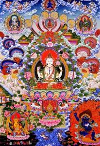 BUDDHIST TANKA TIBET